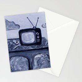 retro TV & Bowl Stationery Cards