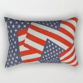 Patriotic Americana Flag Pattern Art #2 Rectangular Pillow
