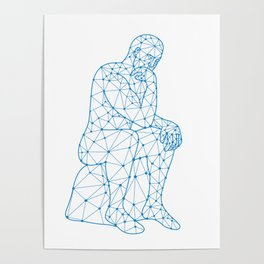 Future Man Thinking Nodes Poster