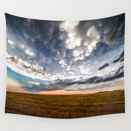 After the Storm - Spacious Sky Over Field in West Texas Wall Tapestry
