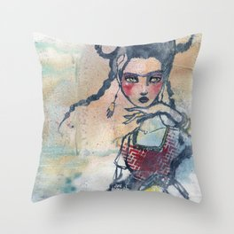 Frida is an Emotion by Jane Davenport Throw Pillow