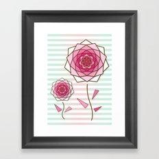 Crystal Flower 4 Framed Art Print