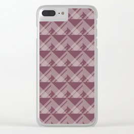 Modern Simple Geometric 5 in Mulberry Clear iPhone Case