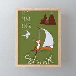Time for a catnap Framed Mini Art Print
