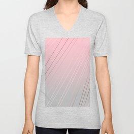 Elegant rose gold, pink - grey gradient Unisex V-Neck