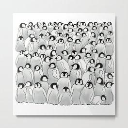 Chick Creche, Emperor Penguin   Metal Print