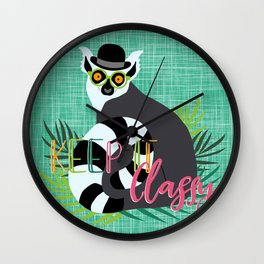 Lemur Keep it Classy Wall Clock