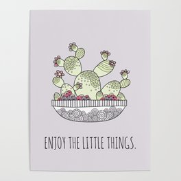 Enjoy the Little Things Lilac Poster