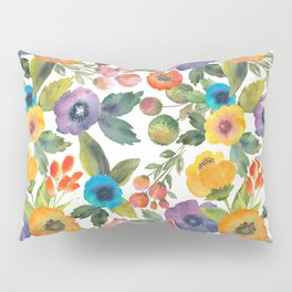 Scattered Poppies Pillow Sham