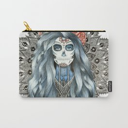 Day of the Dead Woman Mandala Carry-All Pouch