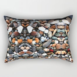 Stone multicolored nature Pattern Rectangular Pillow