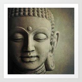 Buddha Head. Art Print