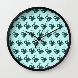 Funky dragons Wall Clock