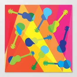 ukulele pattern Canvas Print