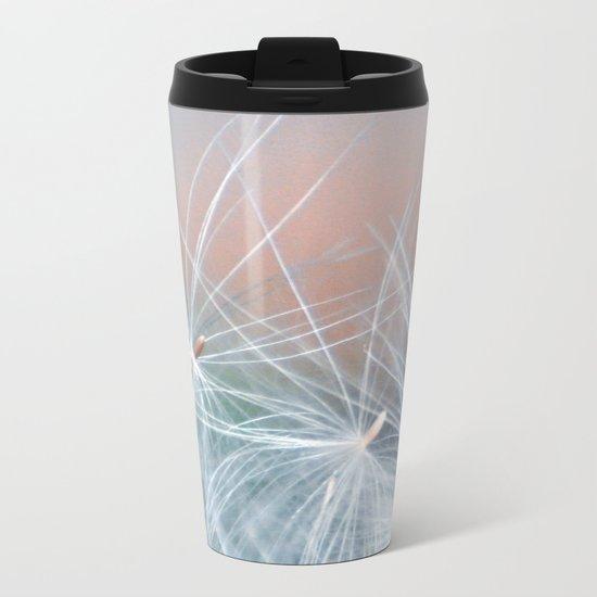 DREAMY DANDELION Metal Travel Mug