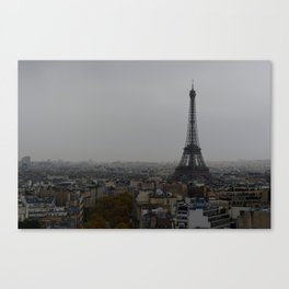 Gloomy Paris Canvas Print