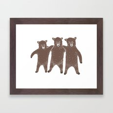 Bear Friends Framed Art Print