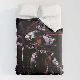 Kyle Reese Revenge Aliens Terminator 80s synthwave Comforters