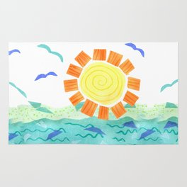 Sunset on the Water Rug