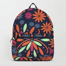 Floral contrast Backpack
