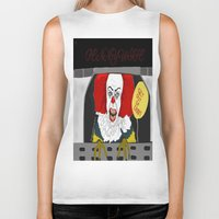 pennywise Biker Tanks featuring Pennywise AKA The Clown by ItalianRicanArt