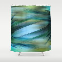 Soft Feathered Lights Abstract Shower Curtain