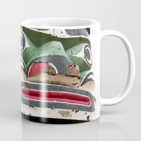 totem Mugs featuring Totem by Renee Ansell