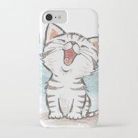 cat coquillette iPhone & iPod Cases featuring Cat by Toru Sanogawa