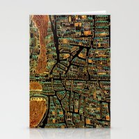 paris map Stationery Cards featuring Paris Map by Larsson Stevensem