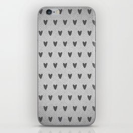 Grey Hearts iPhone Skin