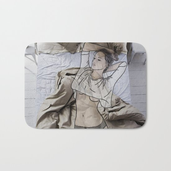 A day in bed Bath Mat