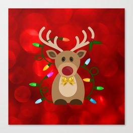Christmas Reindeer in Lights Canvas Print