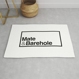 Mate & Barehole / Crate and Barrel Logo Spoof Rug