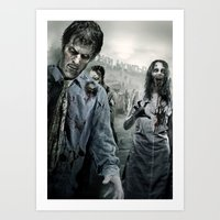 the walking dead Art Prints featuring Zombie by Joe Roberts