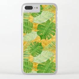 Tropical Leaf Mix IV Clear iPhone Case