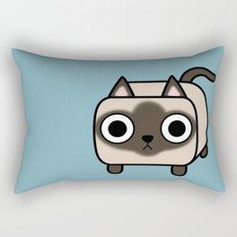 Cat Loaf - Siamese Kitty Rectangular Pillow