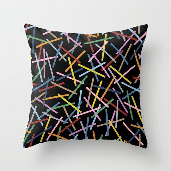 Kerplunk Black Throw Pillow