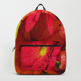 Sunny Daisy Flower Art Backpack