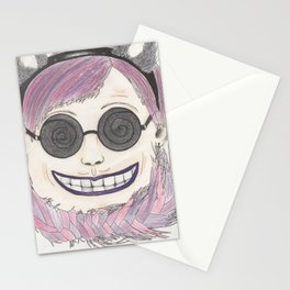 Cheshire cat as a human Stationery Cards