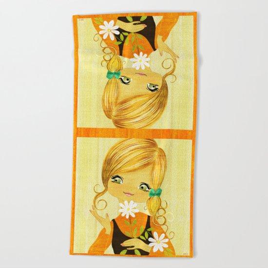 Sunshine Flower Girl Beach Towel