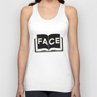 facebook Tank Tops featuring FaceBook by Roland Lefox