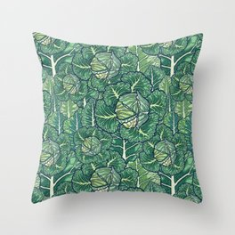 dreaming cabbages Throw Pillow