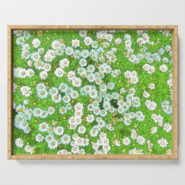 Daisies Painting Serving Tray