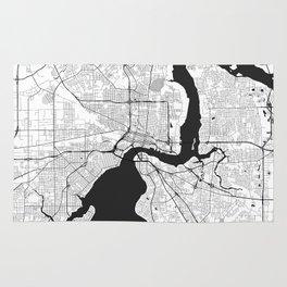 Jacksonville Map Gray Rug