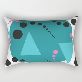 Blue Bubble Rectangular Pillow