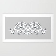 Celtic Triple Heart Art Print
