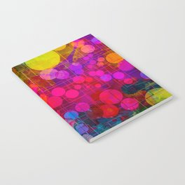 Rainbow Bubbles Abstract Design Notebook