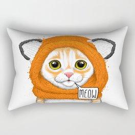 kitten in fox cap Rectangular Pillow