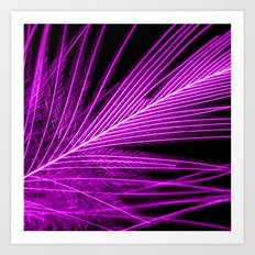 purple feather I Art Print