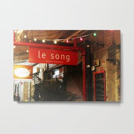Le Song Cafe Sign in Chelsea Market NYC Metal Print